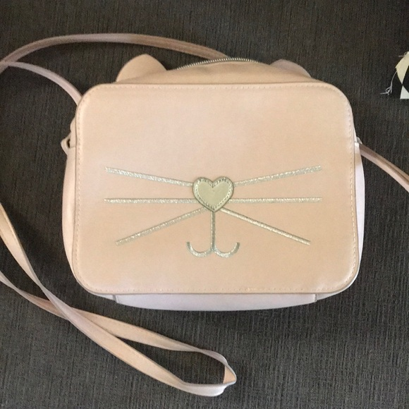 khols Other - Cute pink cat , crossbody, faux leather
